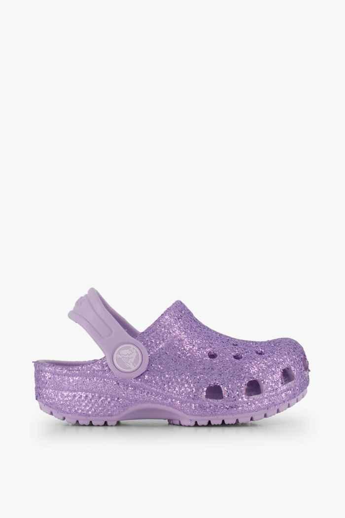 Crocs Classic Glitter Clog slipper bambina Colore Viola chiaro 2