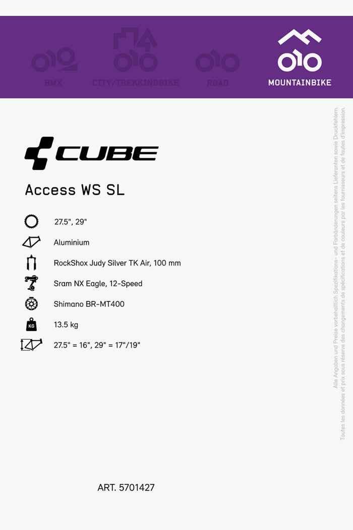 Cube Access WS SL 27.5/29 mountainbike femmes 2021 2