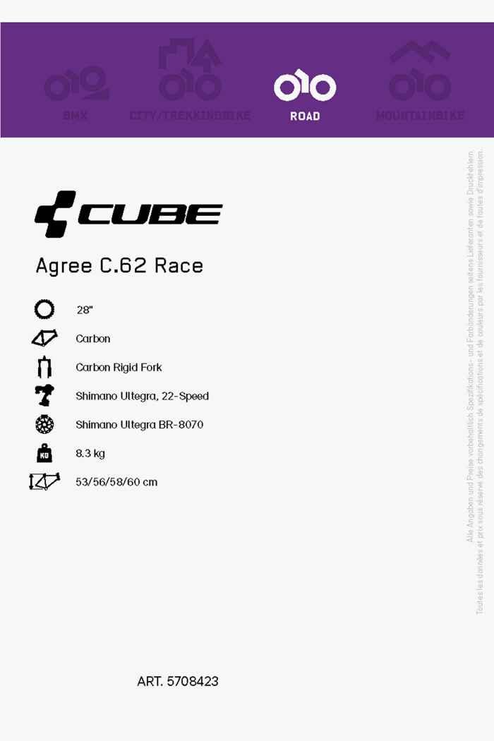 Cube Agree C.62 Race 28 Herren Rennvelo 2021 2