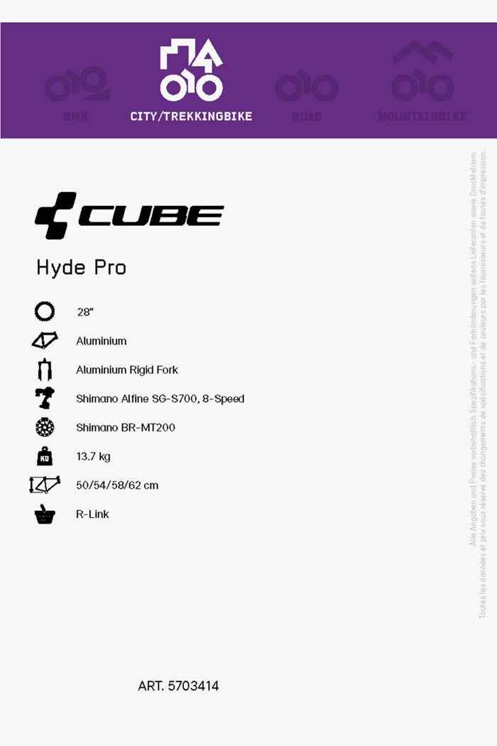 Cube Hyde Pro 28 citybike hommes 2021 2