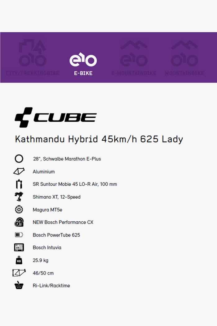 Cube Kathmandu Hybrid 45kmh 625 28 Damen E-Bike 2020 2
