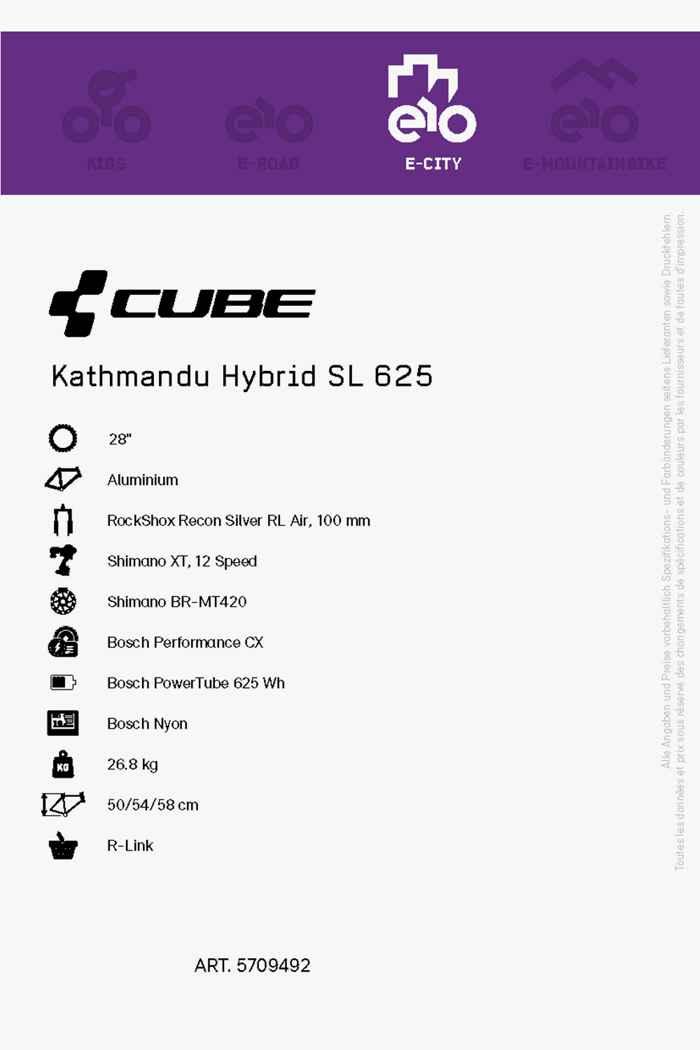 Cube Kathmandu Hybrid SL 625 28 e-bike hommes 2021 2