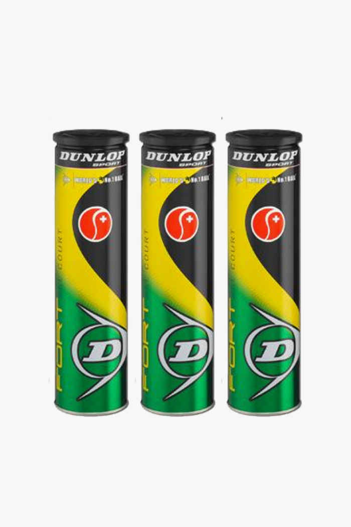 Dunlop 3-Pack Fort All Court balles de tennis 1