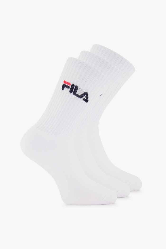Fila 3-Pack 31-46 chaussettes de tennis Couleur Blanc 1