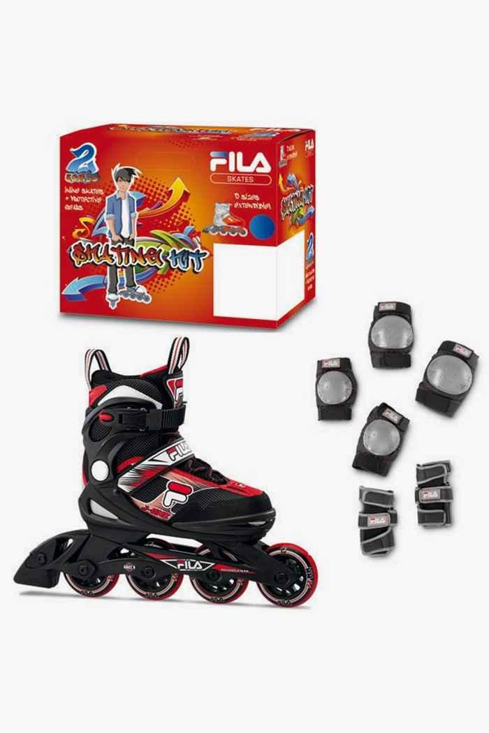 Fila Combo inlineskates + set di protezione bambino Colore Nero-rosso 1