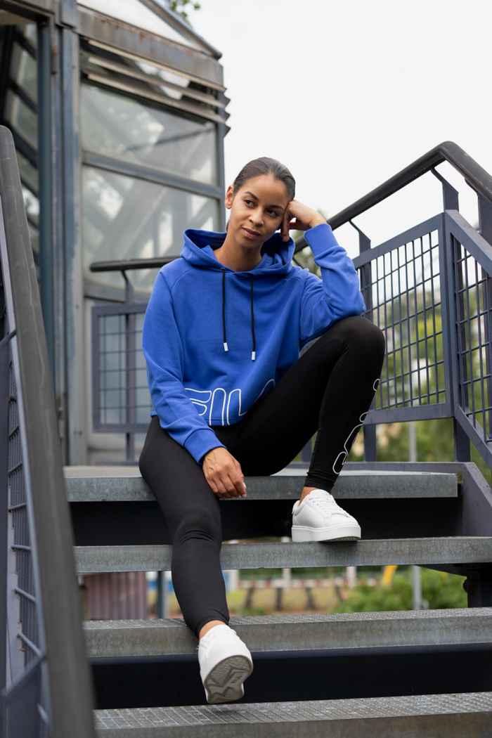Fila Cropped Damen Hoodie Farbe Blau 1