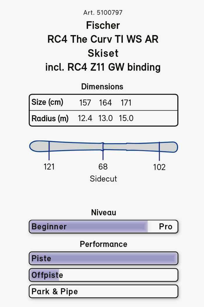 Fischer RC4 The Curv Ti Ski Set 20/21 2