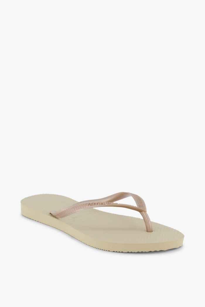 Havaianas Slim Damen Flip Flop Farbe Gold 1
