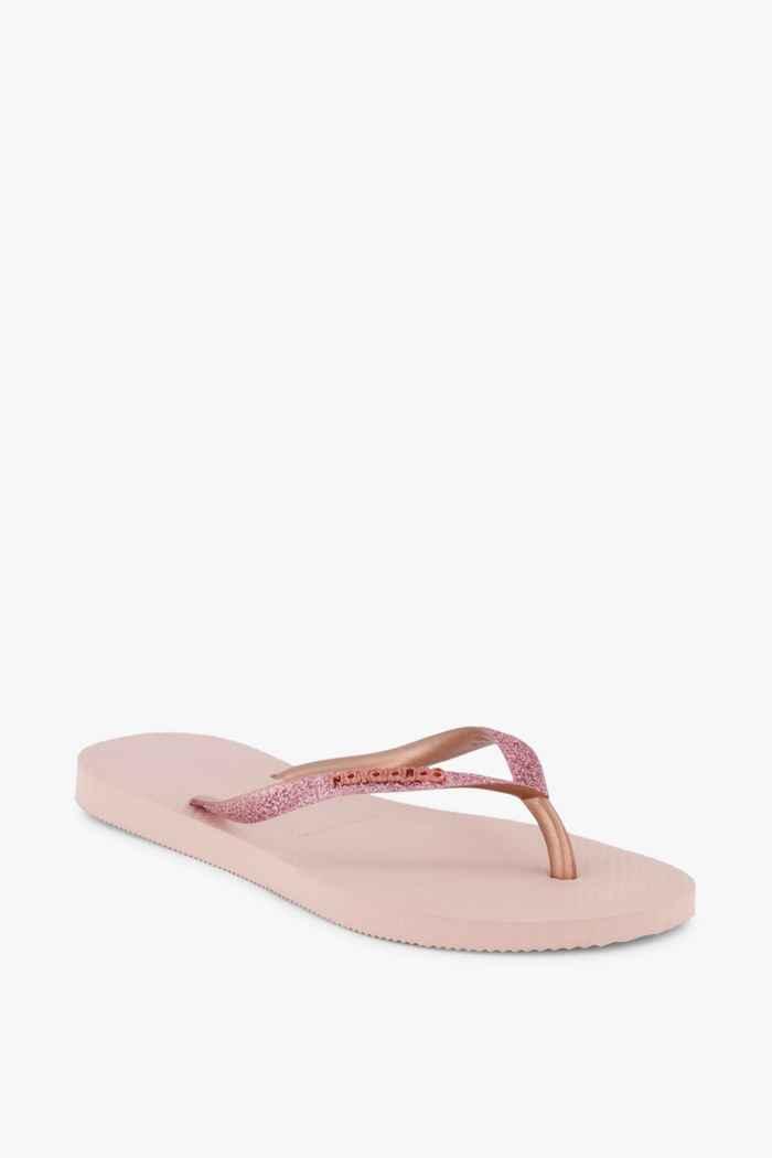 Havaianas Slim Glitter Damen Flip Flop Farbe Rosa 1