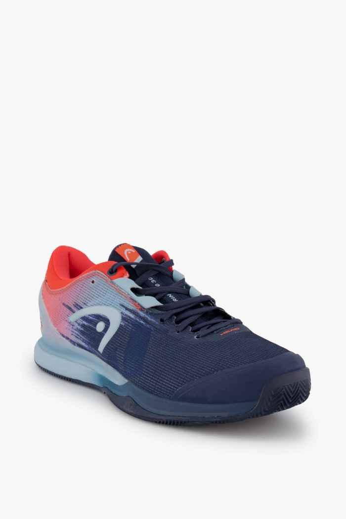 Head Sprint Pro 3.0 Clay chaussures de tennis hommes Couleur Bleu/rouge 1