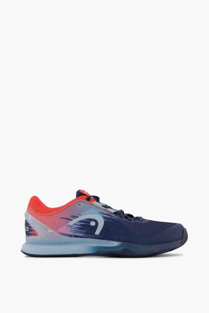 Head Sprint Pro 3.0 Clay chaussures de tennis hommes Couleur Bleu/rouge 2