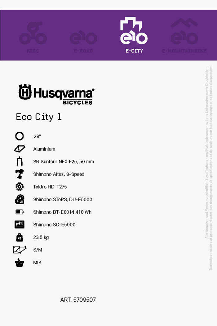 Husqvarna Eco City 1 28 e-bike 2021 2