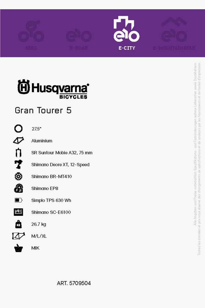 Husqvarna Gran Tourer 5 27.5 e-bike hommes 2021 2