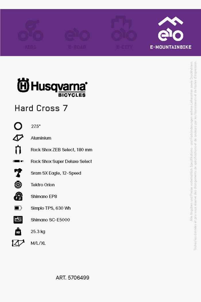 Husqvarna Hard Cross 7 27.5 e-mountainbike hommes 2021 2