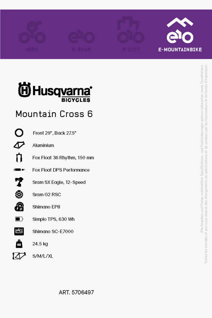 Husqvarna Mountain Cross 6 27.5/29 e-mountainbike hommes 2021 2