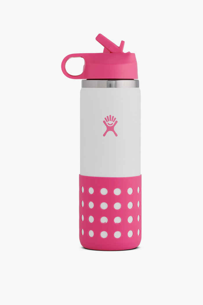 Hydro Flask 20 oz 591ml Wide Mouth Kinder Trinkflasche Farbe Pink 1