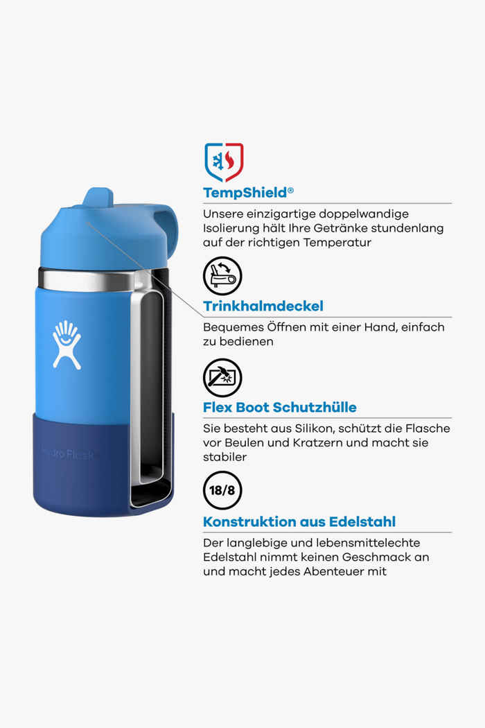 Hydro Flask Wide Mouth 355 ml Kinder Trinkflasche Farbe Pink-grün 2