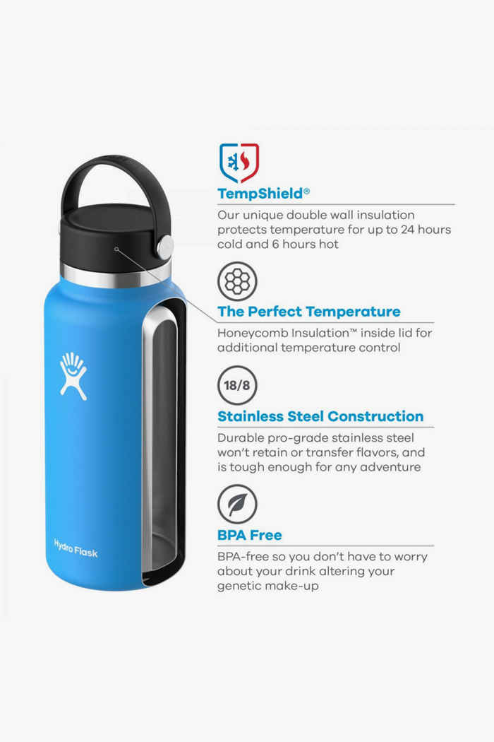 Hydro Flask Wide Mouth 946 ml Trinkflasche Farbe Lila 2