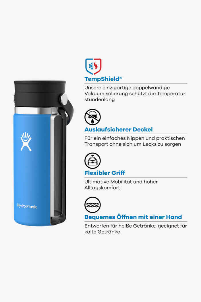 Hydro Flask Wide Mouth Coffee 473 ml Trinkflasche Farbe Blau 2