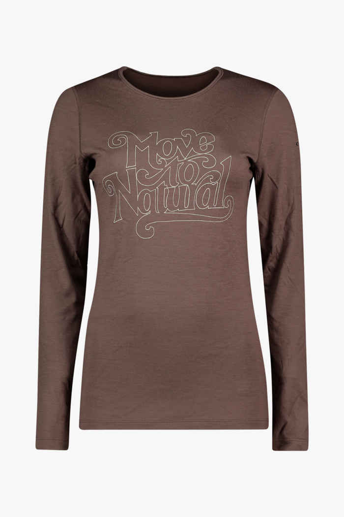 Icebreaker 200 Oasis Move to Natural Damen Thermo Longsleeve 1