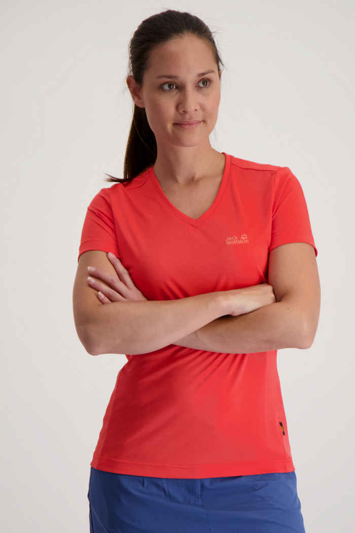 Jack Wolfskin Crosstrail t-shirt donna Colore Rosso 1