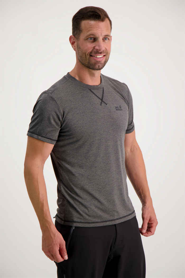 Jack Wolfskin Crosstrail t-shirt uomo Colore Grigio 1