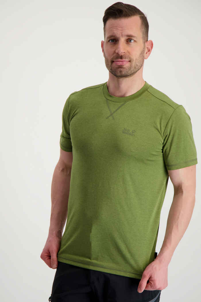 Jack Wolfskin Crosstrail t-shirt uomo Colore Verde 1