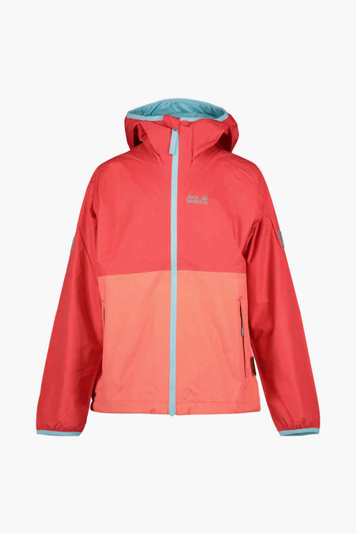 Jack Wolfskin Rainy Days veste outdoor enfants Couleur Rouge 1