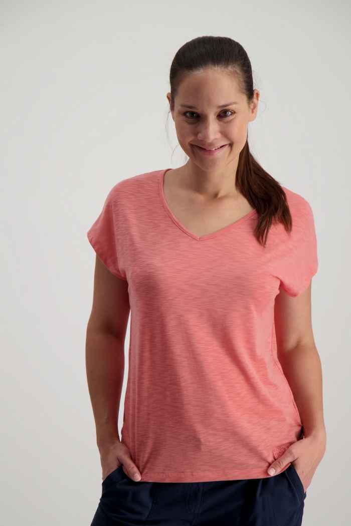 Jack Wolfskin Travel t-shirt femmes Couleur Coral 1