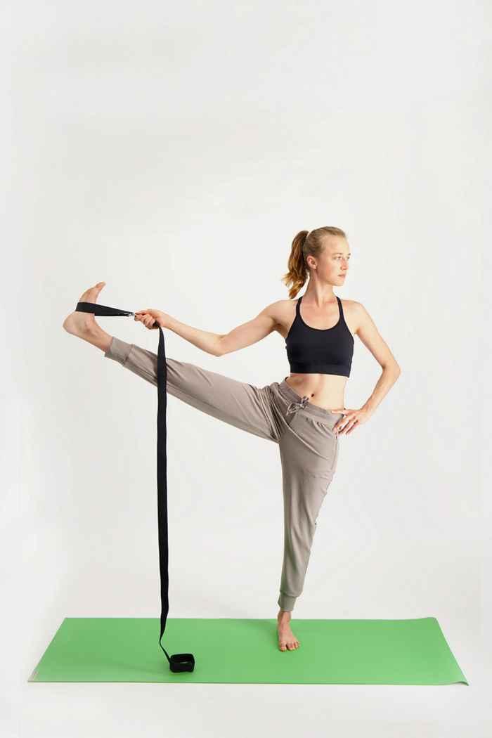 Jade Yoga ceinture de yoga Couleur Noir 2