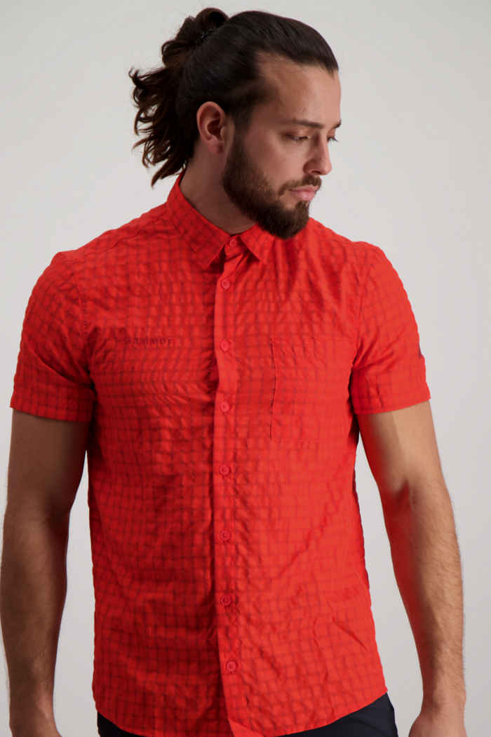 Mammut Lenni Herren Wanderhemd Farbe Rot 1