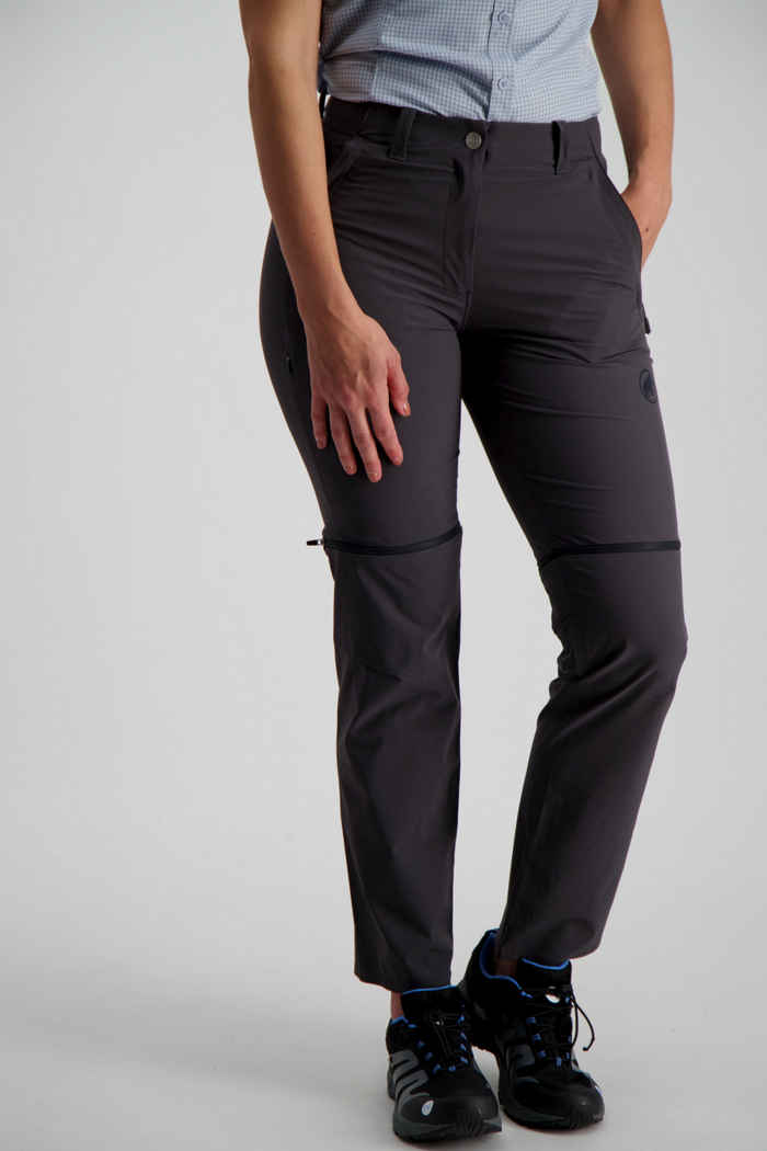 Mammut Runbold Zip-Off Damen Wanderhose Farbe Anthrazit 1