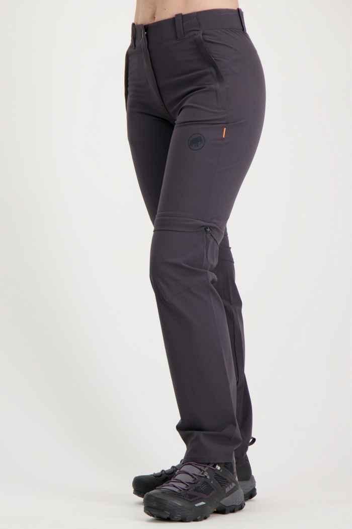 Mammut Runbold Zip-Off Kurzgrösse Damen Wanderhose Farbe Anthrazit 1