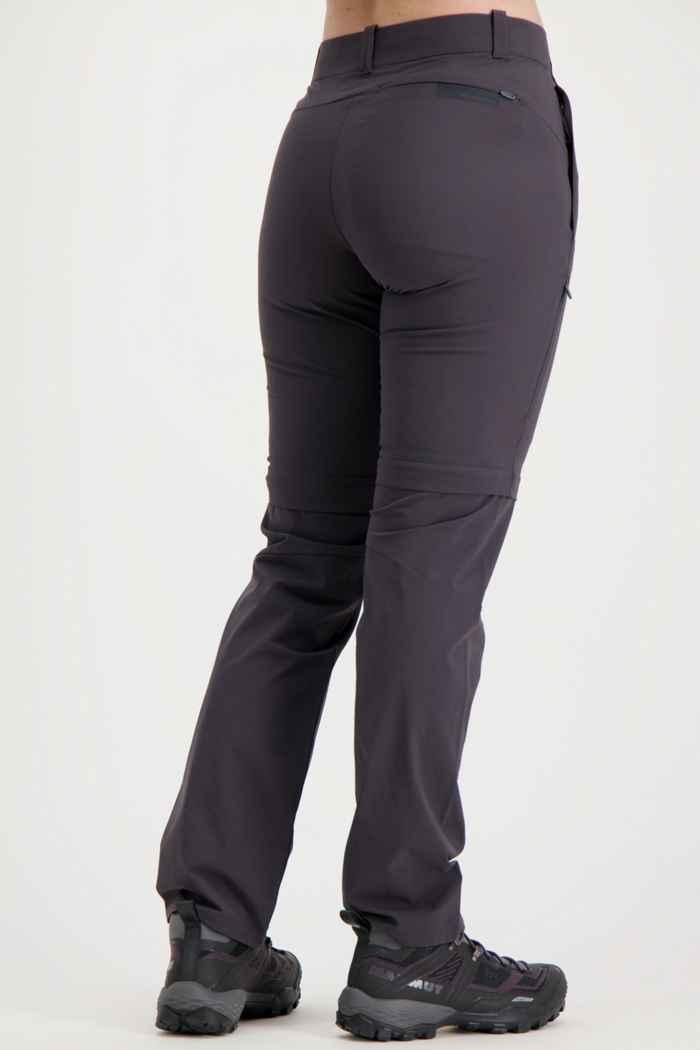 Mammut Runbold Zip-Off Kurzgrösse Damen Wanderhose Farbe Anthrazit 2