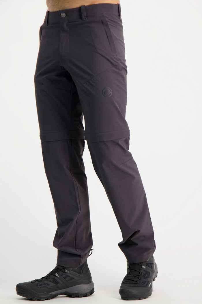 Mammut Runbold Zip-Off Kurzgrösse Herren Wanderhose Farbe Anthrazit 1