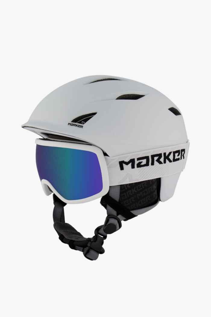 Marker Companion 16:9 Skihelm + Brille Farbe Weiß 1