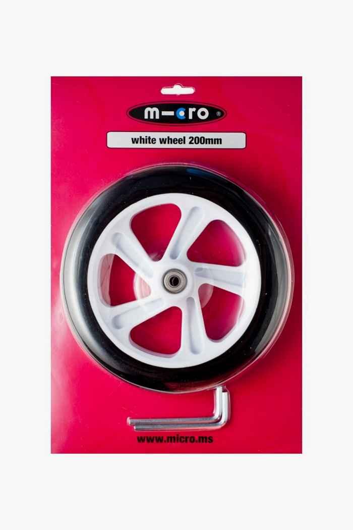 Micro 200 mm roulettes de rollers Couleur Blanc 1