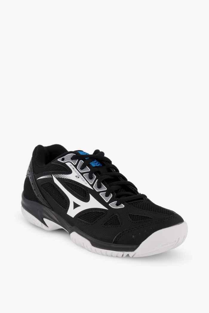Mizuno Cyclone Speed 2 chaussures de salle enfants Couleur Noir-blanc 1