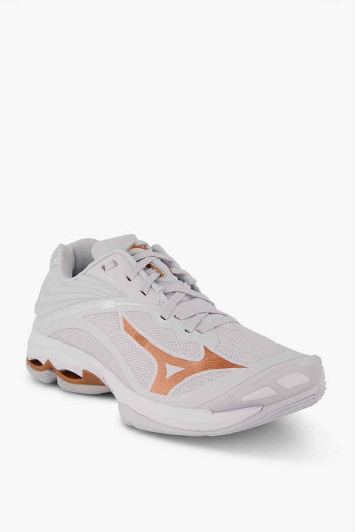 Mizuno Wave Lightning Z6 chaussures de salle femmes Couleur Blanc cassé 1
