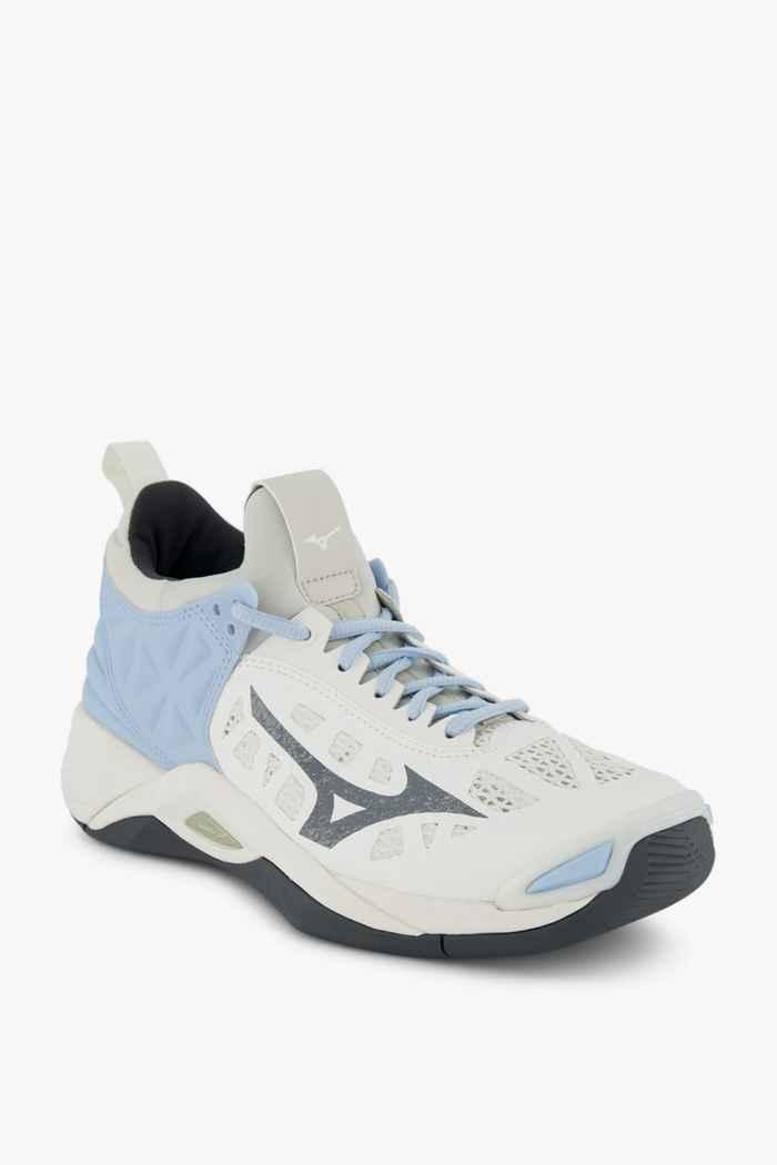 Mizuno Wave Momentum scarpe da palestra donna Colore Bianco 1
