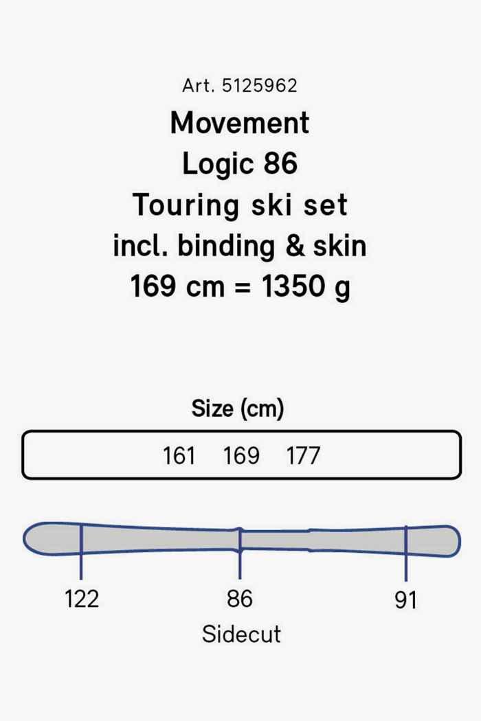Movement Logic 86 Herren Tourenski Set + Fell 21/22 2
