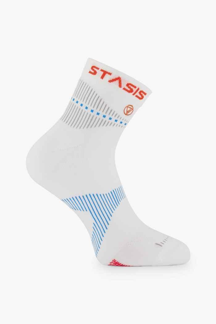 Neurosocks VOXX Stasis Athletic Mini Crew 35-50 chaussettes de course Couleur Blanc 1