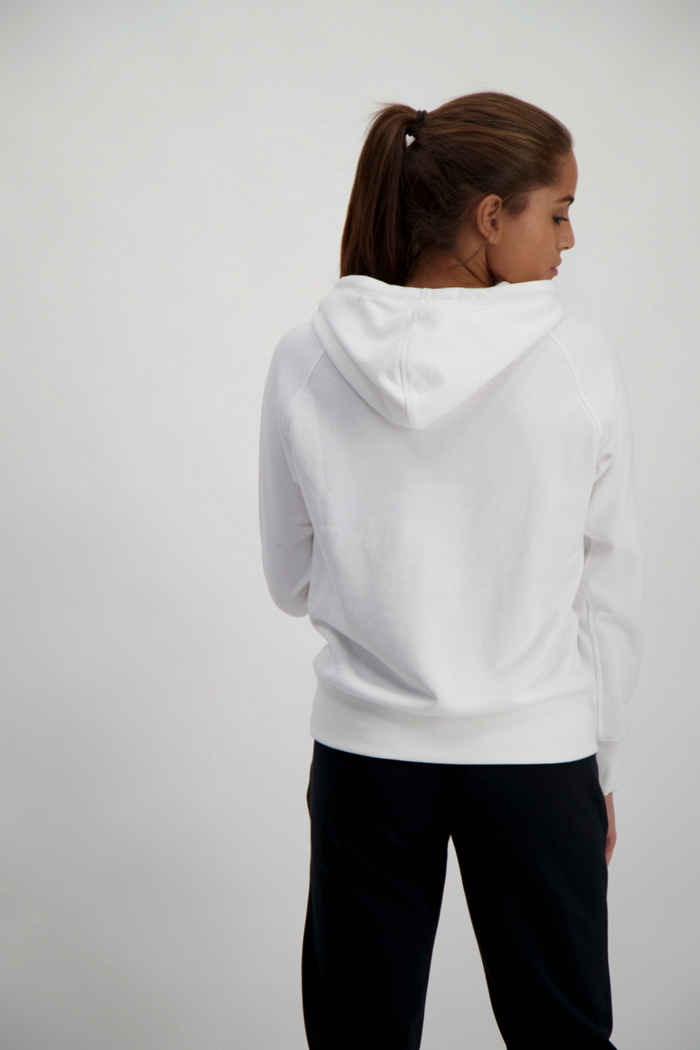 New Balance Essentials Stacked Logo hoodie donna Colore Bianco 2