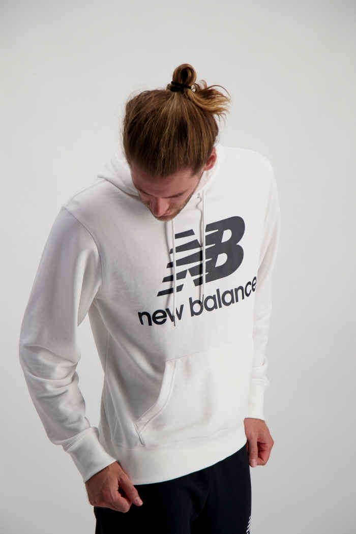 New Balance Essentials Stacked Logo hoodie hommes Couleur Blanc 1