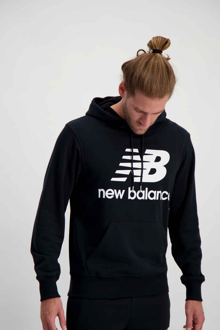 New Balance Essentials Stacked Logo hoodie hommes Couleur Noir 1