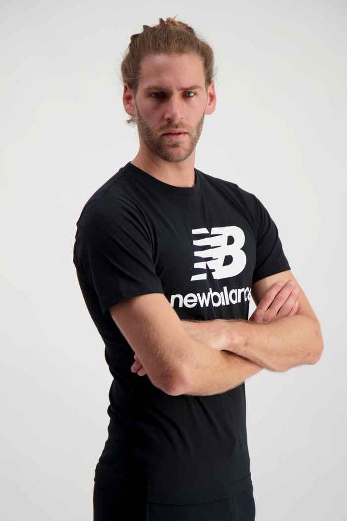 New Balance Essentials Stacked Logo t-shirt hommes Couleur Noir 1