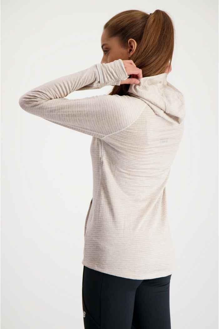 New Balance Heat Grid Damen Longsleeve Farbe Beige 2