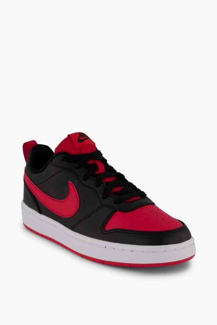 Nike Court Borough Low 2 sneaker bambini Colore Nero-rosso 1