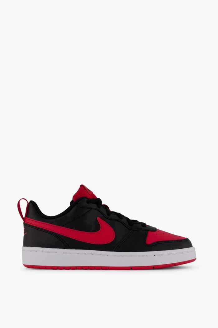 Nike Court Borough Low 2 sneaker bambini Colore Nero-rosso 2