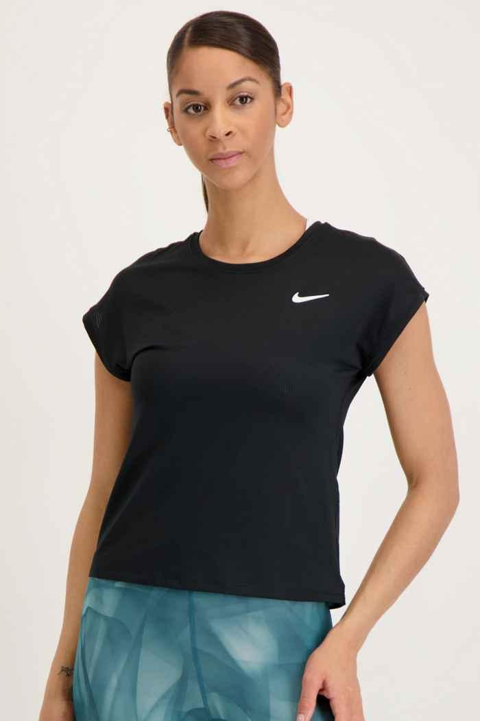 Nike Court Dri-FIT Victory Damen Tennisshirt Farbe Schwarz 1